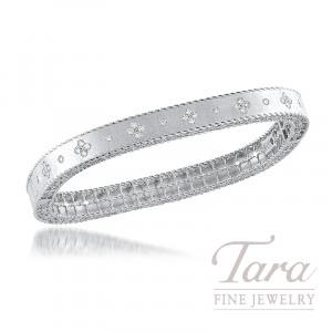 Roberto Coin 18k White Gold Princess Diamond Bangle 48tdw Princess Collection Tara Fine Jewelry