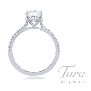 18k White Gold Diamond Engagement Ring - Click for Available Sizes! (Center Stone Sold Separately)
