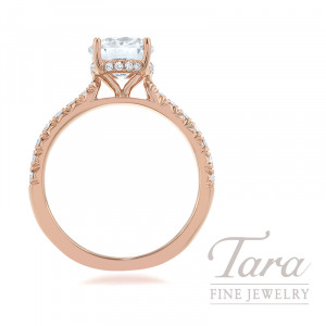 18k Rose Gold Diamond Engagement Ring - Click for Available Sizes! (Center Stone Sold Separately)