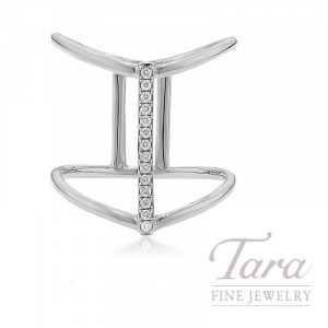 18k White Gold Diamond Fashion Ring, 4.0G, .08TDW