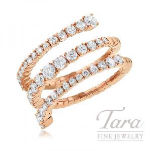 18K Rose Gold Diamond Wrap Ring, 5.8G, 1.31TDW
