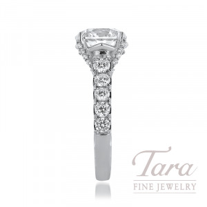 Jack Kelege Platinum Forevermark Diamond Engagement Ring, 4.01CT Forevermark Diamond, 1.80TDW (Center Stone Sold Separately)