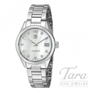 Tag Heuer 32mm Carrera, Mother of Pearl Dial, .097TDW