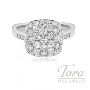 18K White Gold Diamond Pave Fashion Ring, 6.7G, 1.40TDW