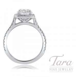 18K White Gold 0.35TDW Semi MT, 42 Round Diamonds, 3.9G, 1.51CT Diamond H-I1 GIA Certified, (Center Stone Sold Separately)