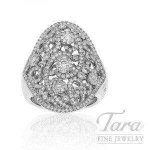 18K White Gold Diamond Ring, .94TDW