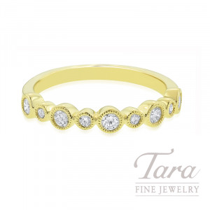 18K Yellow Gold Diamond Bezel Band, 2.8G, .30TDW