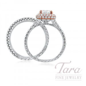 Jack Kelege 14k Rose Gold & 18k White Gold Diamond Wedding Set, 6.5G, 1.11TDW (Center Stone Sold Separately)