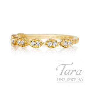 14K Yellow Gold Diamond Band, .12TDW