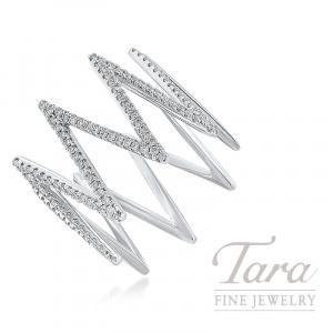 18K White Gold Zig-Zag Diamond Ring, 4.0G, .43TDW