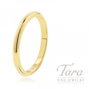 18K Rose, Yellow, or White Gold Smooth Stackable Bands