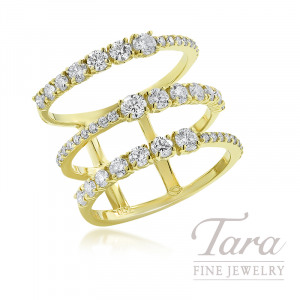 Norman Covan 18K Yellow Gold Diamond Fashion Ring, 5.1G, 1.28TDW