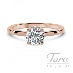 Ritani 18k Rose Gold Diamond Engagement Ring, 3.5G, .10TDW (Center Stone Sold Separately)