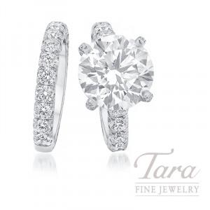 Jack Kelege Platinum Diamond Wedding Set, 7CT Diamond, 16.9G, 2.98TDW (Center Stone Sold Separately)
