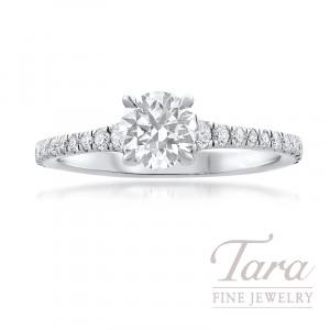 Forevermark Platinum Diamond Engagement Ring, 0.72CT. Round Forevermark Diamond, 22 Round Forvermark Diamonds 0.30TDW