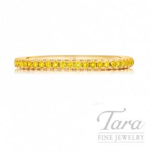 Henri Daussi 18K Yellow Gold Fancy Yellow Diamond Band, .15TDW