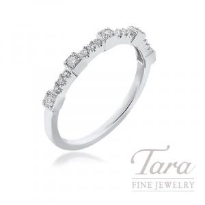 18K White Gold Diamond Band, 1.9G, .25TDW