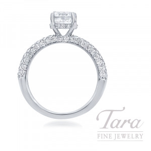 Ritani 18k White Gold Pave Diamond Engagement Ring, 4.4G, .79TDW (Center Stone Sold Separately)