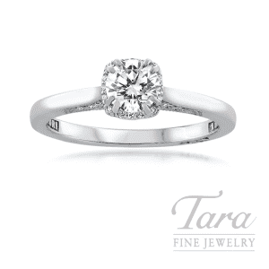 18K White Gold Tacori Diamond Engagement Ring, 0.54CT. L-SI1 Diamond Center Stone