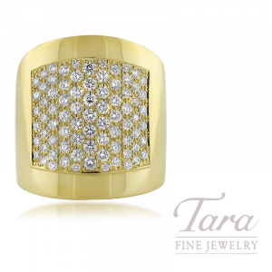 Norman Covan 18k Yellow Gold Diamond Fashion Ring 1 24tdw Tara Fine Jewelry