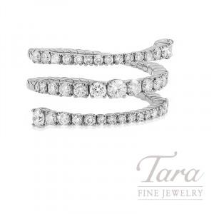 18K White Gold Diamond Wrap Ring, 5.6G, 1.34TDW