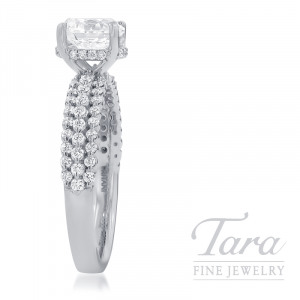 Ritani 18K White Gold Diamond Engagement Ring, 4.1G, .42TDW (Center Stone Sold Separately)