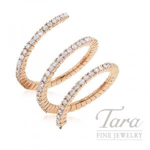 18K Rose Gold Diamond Wrap Ring, 4.7G, .66TDW