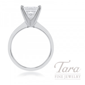18k White Gold Princess Cut Diamond Solitaire Engagement Ring - Click for Available Sizes!
