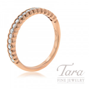 18K Rose Gold Diamond Stackable Ring, 2.4G, .30TDW