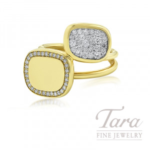 Roberto Coin 18k Yellow Gold Diamond Fashion Ring, 8.5G, .50TDW