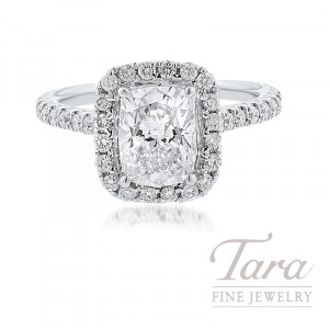 Forevermark 18K White Gold Radiant Cut Diamond Halo Engagement Ring, 2.02CT Radiant Cut Diamond, .79TDW