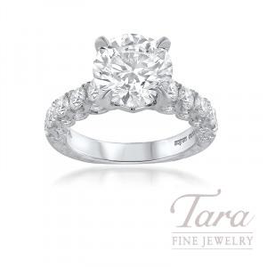 Jack Kelege Platinum Forevermark Diamond Engagement Ring, 4.01CT Forevermark Diamond, 1.80TDW (Center Stone Sold Separately)