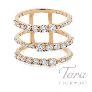 Norman Covan 18k Rose Gold Diamond Fashion Ring, 5.1G, 1.28TDW copy