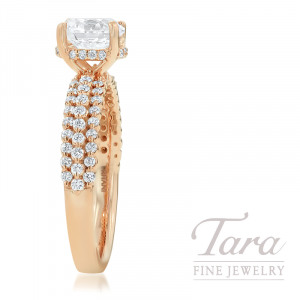 Ritani 18K Rose Gold Diamond Engagement Ring, 3.8G, .42TDW (Center Stone Sold Separately)