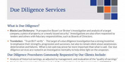 Due Diligence Services