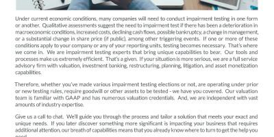 Impairment Testing
