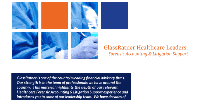 Healthcare Leaders  Forensic Accounting  Litigation Support