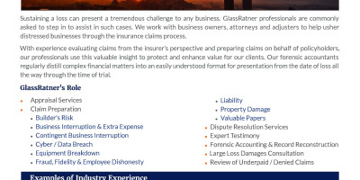 Forensic Accounting  Business Insurance Services