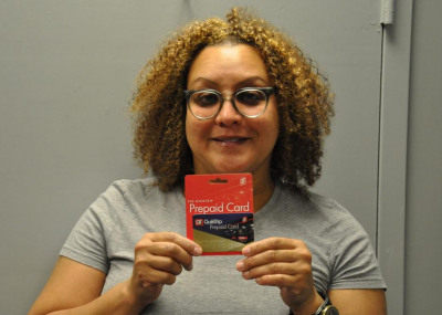 A Happy Winner of A $50 Gift Card