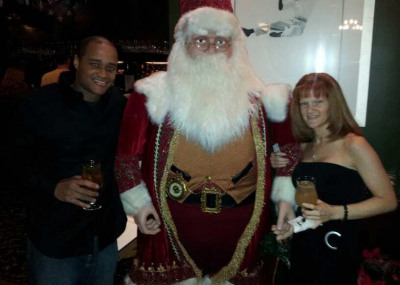 Jessi, husband and Santa