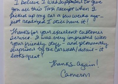 Thank You Cameron