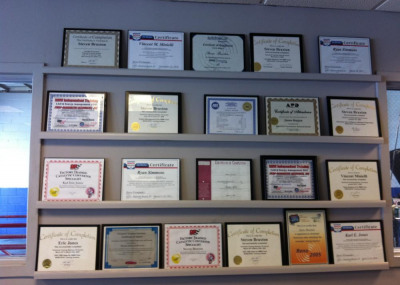 A few of our certificates