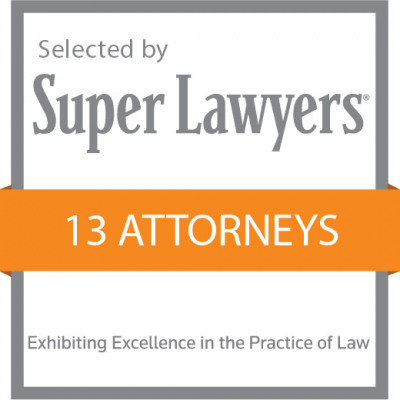 13 Attorneys Selected by SuperLawyers image