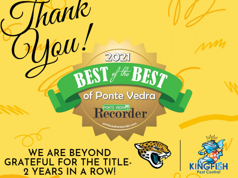 Kingfish Pest Control Named Best of Ponte Vedra for Pest Control in 2021