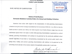 Fulton County Superior Court: Order of Clarification