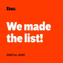 Inc. Magazine's 2020 5000 Fastest Growing Companies