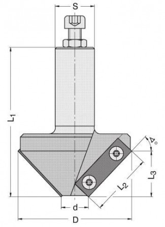 Series 4322 - Insert Bevel Router Bit