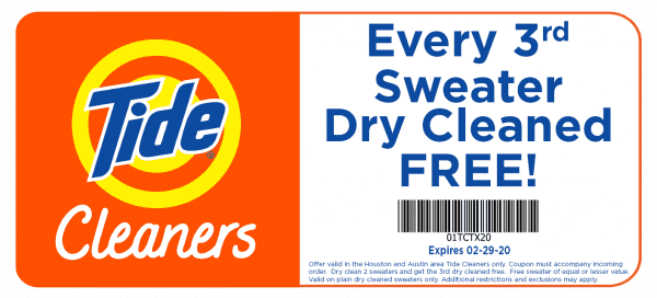 Tide Dry Cleaners Coupon