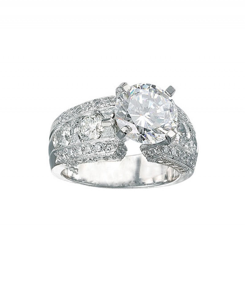 Diamond Wedding Ring by J.B. Star in Platinum, 1 3/4 CT TDW. (Center stone sold separately)