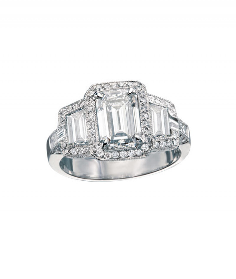 Diamond Wedding Ring by JB Star in Platinum, 1.17 CT TW. (Center stone sold separately)